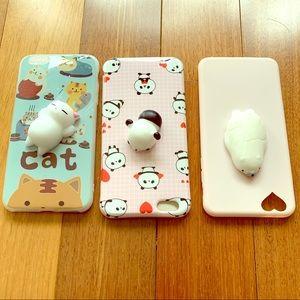 iPhone 6 Plus Cute Squishy Animal Case! Set of 3